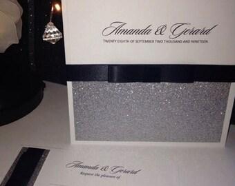 All that Glitters Wedding invitation SAMPLE