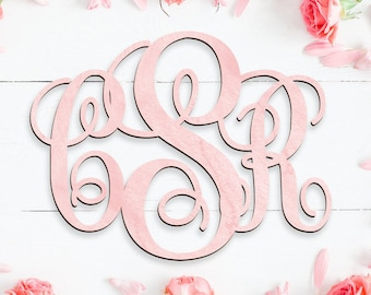 "Fast 24"" 3 Letter Wooden Monogram Unpainted OFFICE 24 inch Wooden Monogram SALE monogram decoration personalized custom wall hanging"