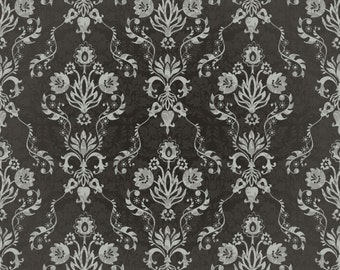 Retro Floral Damask 2 Wallpaper