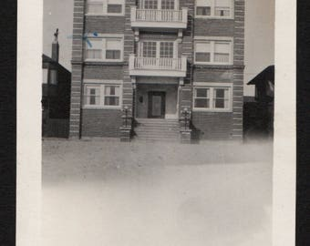 Antique Snapshot Photo The Dorothy Apartments Venice Beach 1910's, Original Found Photo, Vernacular Photography