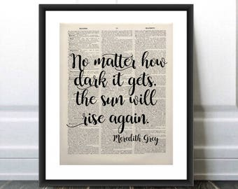 Grey's Anatomy Wall Art/Grey's Anatomy Quote/Greys Anatomy Quote/Greys Anatomy Gift/Old Book Page Art/Wall Art/Home Decor/Gift for her