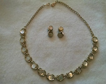 Coro Mother of Pearl necklace and earrings - FREE SHIPPING!