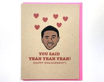 Usher Yeah 3x Engagement Card, Funny Engagement Card, Hip Hop Wedding Card, 90s Hip Hop