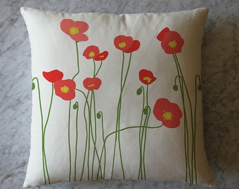 Pillow with Poppy Flowers. April 16, 2013