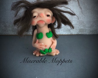 EVE Mini Moppet, ooak doll, one of a kind, polymer clay doll, handmade art, ooak sculpture, gothic art doll