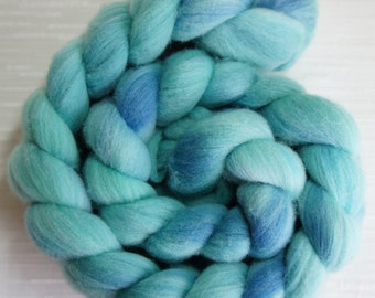 Wool Roving, Combed top, Hand Painted Roving for Spinning or Felting, Rambouillet  - 4 oz