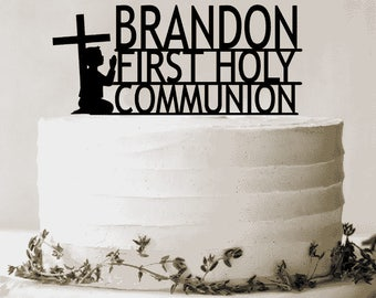 Personalized Communion Boy Cake Topper,Custom Made,Personalised