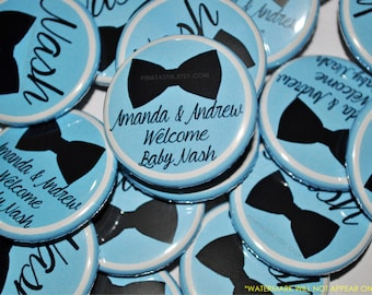 Gender Reveal Buttons, Little man Baby Shower, It's a boy Baby Shower, Bow tie party favors, Baby Shower Buttons, little man baby shower