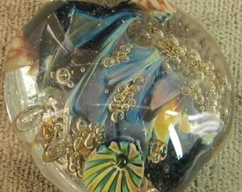 Bubble Deep Sea Barnacle  Reef Lampwork  Glass Focal Bead w murrine sra