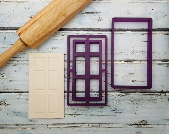 Belle\u0027s Door with Imprint Frame Cookie Cutter and Fondant Cutter and Clay Cutter from BobbisCookiesCutters on Etsy Studio & Belle\u0027s Door with Imprint Frame Cookie Cutter and Fondant Cutter and ...