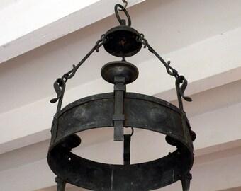 Gothic chandelier etsy english antique medieval style chandelier tudor style chandelier gothic style chandelier antique hanging aloadofball Choice Image