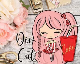 Die Cut- Cute Dolls- Movie Time