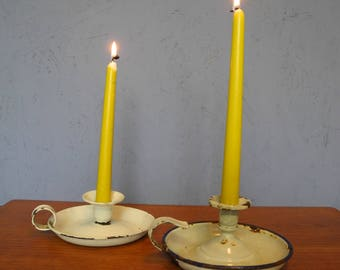 Candle holder Shabby Chic, set of 2