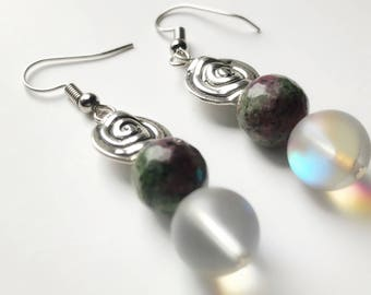NEW! Pink and Green Earrings