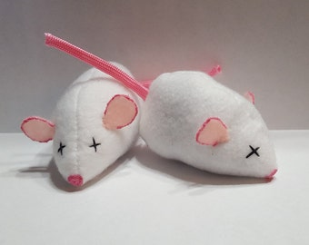 Hand-made Mouse Catnip Filled Cat Toy
