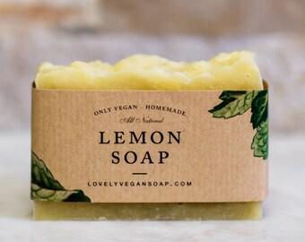 Lemon soap natural lemon soap lemon needs mom gift for wife vegan gift citrus soap citrus scent soap vegan soap gift-for-her soap gift