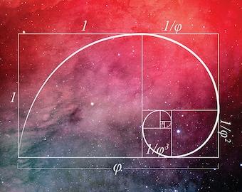 Golden Spiral, Math Poster
