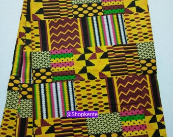 6 yards kente print patchwork fabric wholesale/ Printed African Patchwork fabric/ Kente Stoles/ African Textiles/ Unique African fabrics