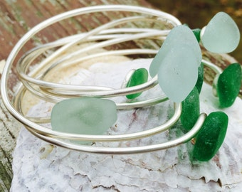 Bangle Love: Seaglass Bangles