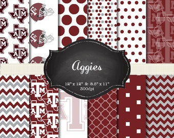 Texas A&M digital papers - 12x12 and 8.5x11 300 dpi