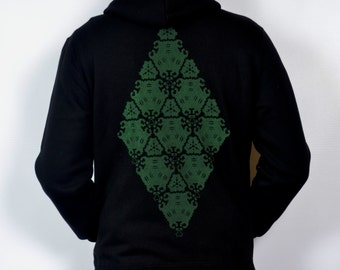 SALE Ancient Technology black and green Hoodie