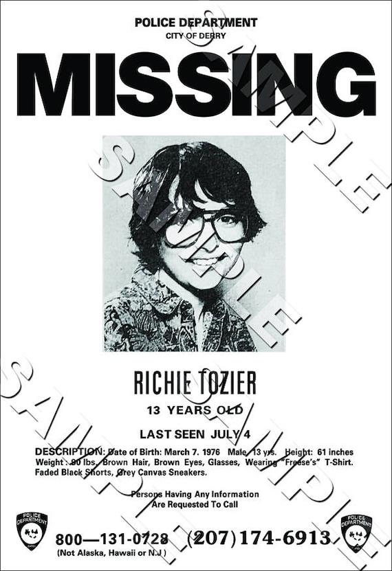 IT Missing Poster Replica Digital Download