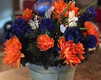 Blue and Orange Floral Arrangement