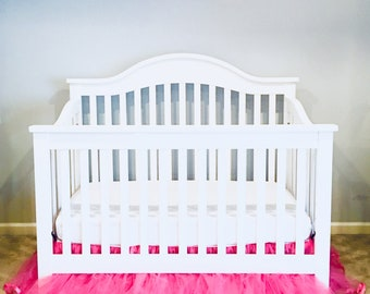 Crib Size Tulle Bed Skirt