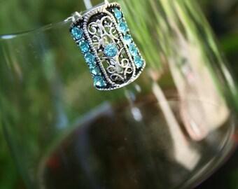 Aqua Blue Wine Glass Marker
