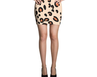 Women's Leopard print Mini Skirt