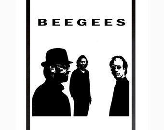 Bee Gees Poster Disco Music Still Waters Printable Art Download Digital Print Wall Decor Saturday Night Fever