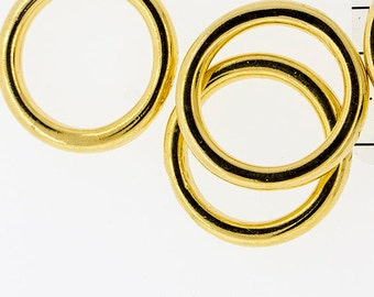 Gold plated Round Rings / O Rings