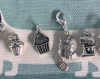 Cooking & Baking themed Stitch/Progress Markers set of 6