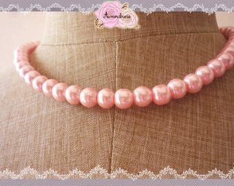 Candy Pink Pearl Necklace