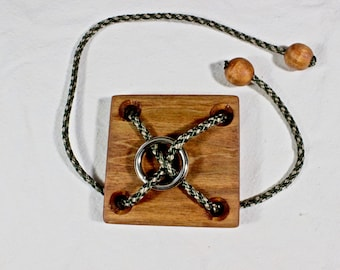 Wooden Cord And Ring Puzzle | Hand Made Puzzle