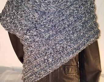 Scarf Vest Gr. L-XL Panem Katniss Scarf Vest Poncho Cape Jacket coat cardigan cardigan Knitted jacket hand Knitted order