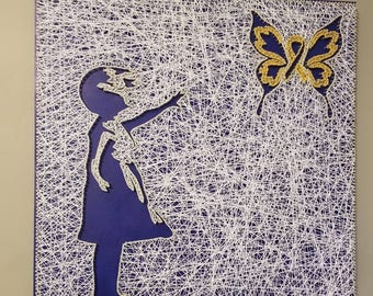 Down Syndrome  Butterfly String Art