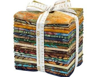Robert Kaufman BAKARI BATIKS Fat Quarter Bundle 18 Precut Cotton Fabric Quilting FQs Assortment Lunn Studios FQ-848-18 4.5 Yards