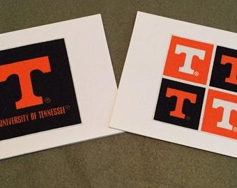 University of Tennessee - UT - Set of 8 Notecards Blank inside