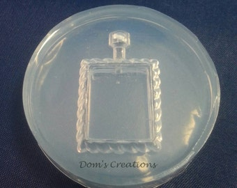 Rectangle deep bezel picture frame type pendant silicone mold