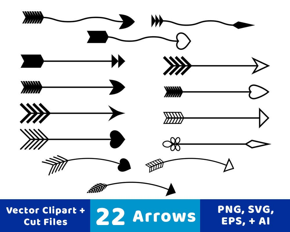 22 Arrows Clipart Rustic Arrow Clipart Arrow SVG Wedding