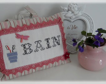 Bath embroidered Pincushion