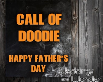 Call of DOODIE Father's Day - Beer Bottle Label