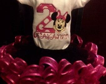 Birthday mouse tutu set