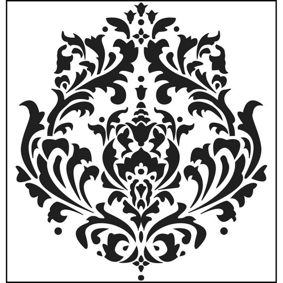 "Brocade 6 x 6"" Stencil /  template a Jaime Echt design perfect for mixed media, scrapbooking, journaling and so much more"