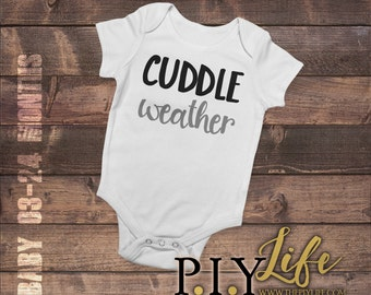 Baby | Cuddle Weather Baby Bodysuit DTG Printing on Demand