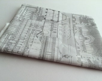 Fat Quarter - Building Sketches Fabric
