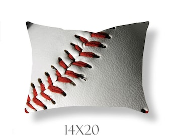 Baseball Pillow Cover-Throw Pillow-Sports Decor-Baseball Outdoor Pillow Cover-Baseball Decor-Photo Pillow-Athletic Decor-Family Room Decor