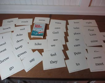 40 Sail Away Word Flash Cards, Words, Rhyming Words, Illustrations, Decor, Supplies, Paper Epherma, Learning, School