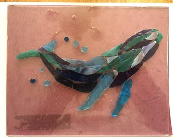 Whale Stained Glass Mosaic